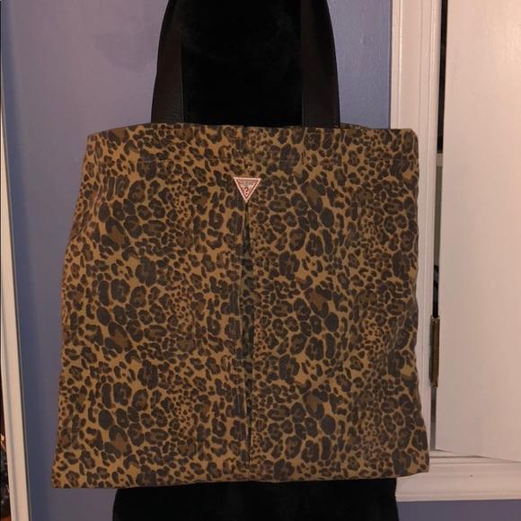 a4664c1edc Guess Handbags - GUESS cheetah tote bag